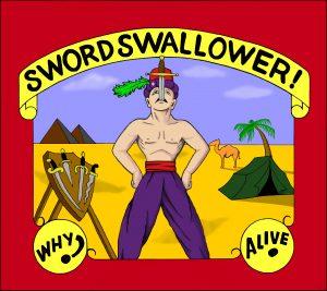 Sword swallower Banner